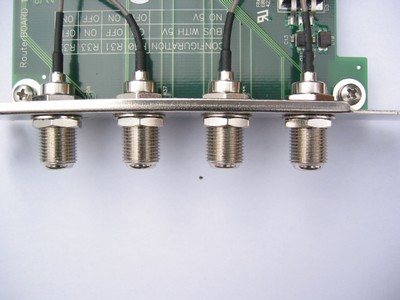 RouterBOARD 14 PCI bracket with pigtails