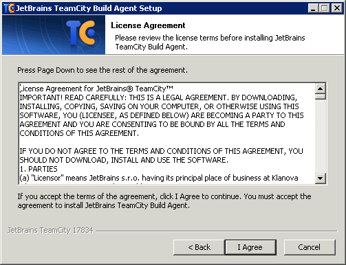 Howto Install a TeamCity v6 5 1 Windows Build Agent — Lucid Solutions