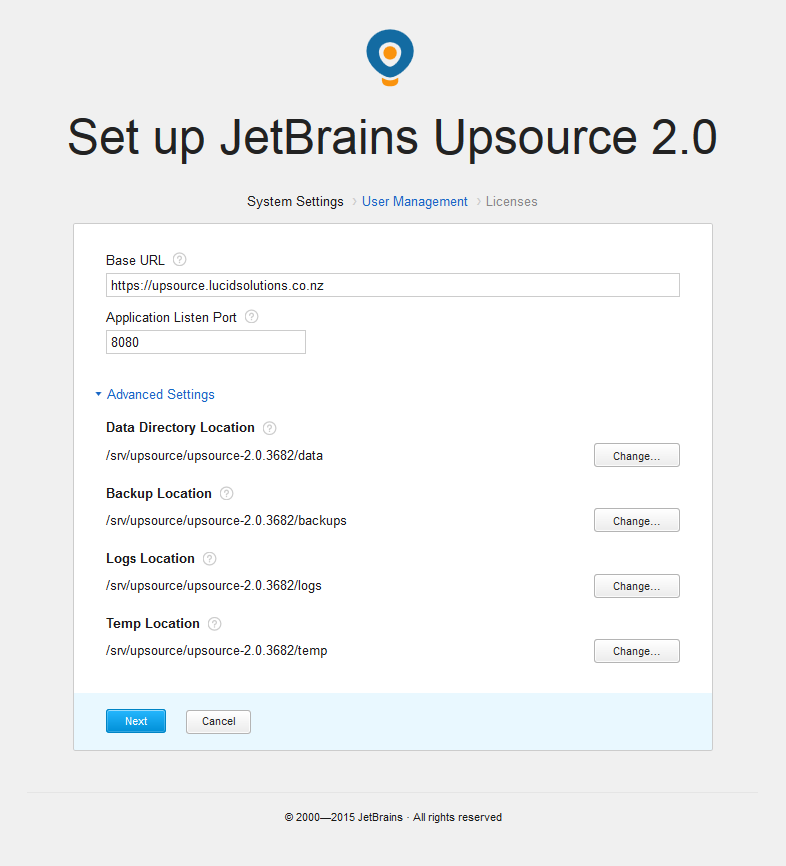 Upgrade JetBrains Upsource to v2 x on CentOS 7 — Lucid Solutions