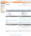 Screensnap of Google Analytics with new site