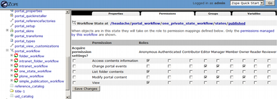One State (public) Workflow Permissions